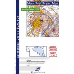 VFR 500 Mapa Belgien.