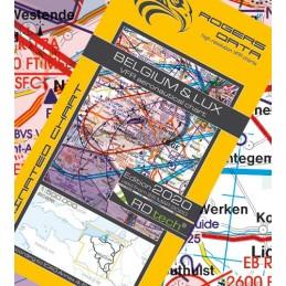 Mapa Belgien VFR ICAO
