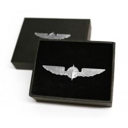 Pilota skrzydełka srebrna 5 cm