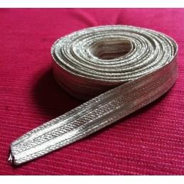 Tressenband Taśma srebrna
