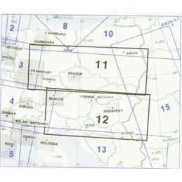 Enroute Chart E(LO)11/12 Polska, Austria
