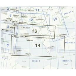 Enroute Chart E(LO) 13/14 Włochy, Grecja